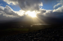 Sun rays over the stormy bog (supersky77) Tags: ireland light sun storm irland mayo rays sole luce croaghpatrick raggi tempesta