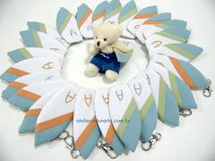 Lembrancinhas costurarte (ateliecosturarte) Tags: surf urso chaveiro surfista turquesa prancha lembrancinhas pranchadesurf