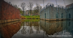 Groninger Museum,Groningen stad,the Netherlands,Europe (Aheroy(2Busy)) Tags: street city trees holland water strange dutch museum architecture clouds landscape fun town europe colours different arts nederland surreal fisheye hallucination groningen stad groningermuseum tonemapped singlerawhdr aheroy aheroyal beautifulgroningen canonef815mmf4lfisheye