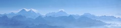 Mount Everest in the Himalayas (Heaven`s Gate (John)) Tags: blue nepal sky panorama snow mountains clouds sunrise dawn earthquake mount april everest himalayas topoftheworld 2015 10faves 25faves johndalkin heavensgatejohn