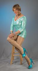 Another Leggy Pose! (kaceycd) Tags: pumps highheels tgirl stilettoheels sequins pantyhose crossdress spandex lycra tg stilettos minidress platformheels sexypumps opentoepumps platformpumps stilettopumps peeptoepumps