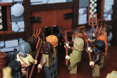Desperate Defenses (Digger1221) Tags: wood red baby white brick castle window wall bench de table liberty rebel freedom stand inn war candle escape floor lego map timber interior traitor battle lord tudor desperate creation final fox half rebellion rug dagger blacksmith own count timbered moc defenses gaeric etheros ylianna velciiar estairia estairian