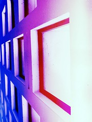 weirdwall (iamlewolf) Tags: pink blue windows red white college window colors wall campus weird colorful university pretty purple sweet cement cyan magenta holes spots blocks spotted angled cobalt flickrandroidapp:filter=toucan