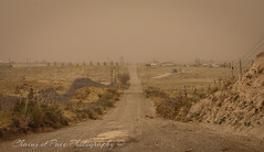 Dust Bowl America (Chains of Pace) Tags: road storm oklahoma rural landscape sony perspective retro prairie panhandle oldwest guymon