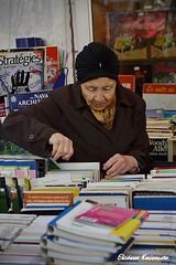 Choosing secondhand books in Paris