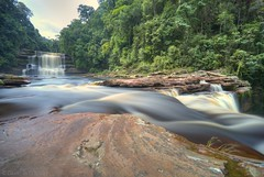 Maliau Falls (David KWC) Tags: nature water forest river landscape waterfall rainforest wideangle malaysia borneo remote ultrawide sabah hdr waterscapes sigma1020mm maliau nd1000 nikond80 maliaubasin thebestwaterscapes maliaufalls
