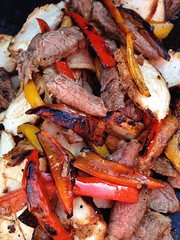 Fajitas on Cinco de Mayo 295/365 (j_wrobel) Tags: cameraphone chicken apple de grill mexican steak cinco peppers mayo 365 fajitas cincodemayo iphone project365 iphone5 iphone365 iphoneography snapseed