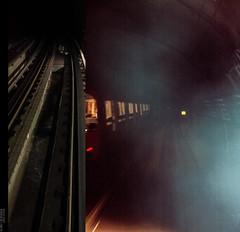 = == (okkyn') Tags: night lights metro rail diving straight spacebetween bluedy