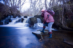 The Photographer (Mickyboyc) Tags: camera longexposure winter water river waterfall stream human filter slowshutter hareshawlinn mickyboyc