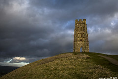 St Michael's Tower II (zolaczakl) Tags: january glastonbury somerset winterlight glastonburytor 2015 somersetlevels stmichaelstower broodingclouds nikond7100 photographybyjeremyfennell