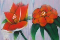 Flowers in the Plaka Athens (J'Adoretotravel) Tags: travel flowers graffiti athens greece plaka paintedflowers theagora towerofthewind jadoretotravel