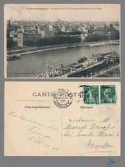 PARIS - Perspective du XVIe Arrondissement prise de la Tour Eiffel (bDom) Tags: paris 1900 oldpostcard cartepostale bdom