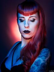 Julie. (Bart) Tags: light red woman cute sexy girl beauty model eyes women julie head redhead charming toulouse tatoo pinup 45mm modele tatouage m43 mft 45mmf18 ep5 micro43 microfourthirds microfourthird 45mm18 43 olympusep5 olympusm45mmf18 olympusmzuiko45mmf18 mzuiko45mmf18