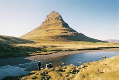 (Bazzerio) Tags: travel woman mountain film girl 35mm iceland roadtrip hike adventure analogue kirkjufell bazzerio