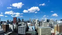 Sunny Day....... (EHaliM) Tags: travel sky building beautiful japan day sunny bluesky osaka iphone iphone6splus
