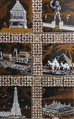 Azulejos. 5 de las 7 Maravillas del Mundo (Madrid) (Juan Alcor) Tags: madrid faro tiles mundo monasterio templo pirmides azulejos mausoleo elescorial maravillas rodas coloso guiza alejandria artemisa halicarnaso