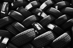 New Tyres (dmjames58) Tags: blackandwhite bw abstract aperture tyres silverefexpro leicam240
