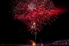 sfsu 2016 post commencement ceremony fireworks lll (pbo31) Tags: sanfrancisco california city red urban black color night evening nikon fireworks graduation ceremony may bayarea tug commencement barge sfsu missionbay 2016 pier48 boury attpark pbo31 d810