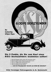 NSU 6/30 PS (1928) Sechszylinder (H2O74) Tags: auto old 1920s 2 6 classic cars car 30 vintage germany ads advertising deutschland automobile doors alt ad ps voiture advertisement anncio german coche carros advert classics carro autos werbung 1928 630 automobiles coches reklame advertisment deutsch voitures fahrzeug 1929 20s antigo adverts nsu automvil anzeige 1927 antik alte fahrzeuge clsico wagen automobil 2door klassiker madeingermany neckarsulm anzeigen 20er vereinigte autowerbung werbungen reklamen sechszylinder 1920er fahrzeugwerke 630ps 2trer autowerbungen