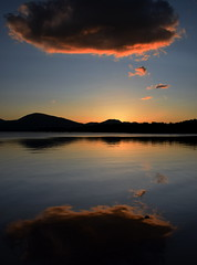 Perfect Reflection (Russardo) Tags: sunset bay scotland loch lomond milarrochy