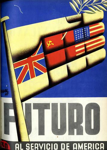 Portada de Josep Renau Berenguer para la Revista Futuro (junio-julio de 1945)