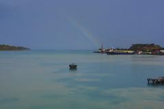 Caribbean celebrity cruise. (ost_jean) Tags: cruise sky celebrity water regenboog landscape amazing rainbow nikon ship antigua caribbean barbuda d5200