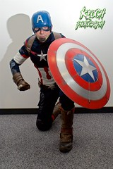 IMG_0410 (Neil Keogh Photography) Tags: blue red usa white black male leather metal silver comics stars soldier stripes helmet cosplayer marvel armour marvelcomics starsstripes supersoldier salfordcomiccon2016