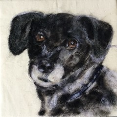Maxi Pet wool painting (Needle Feltings by - Dexihexi Pouch Puppies) Tags: woolpainting wool doglover doglovergift pet felting commission dog dexihexipouchpuppies portrait painting dogs custom needle felted painted paintings animals dexihexi pouch puppies pets woolpaintingpets