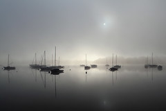 Mist (rogermarcel) Tags: sun mist reflection river boat atmosphere bateau brouillard brume waterscape rflexion rogermarcel