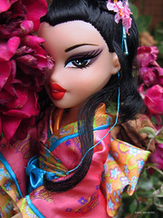 It's Real (PancakeBoss) Tags: flowers red hot 2004 fashion asian outdoors japanese tokyo doll pretty moments go culture makeup it lips entertainment loves kimono filters mga collector illuminati bratz tagg maylin