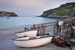 (Andy Bracey -) Tags: longexposure sunset sea seascape beach landscape boats coast nikon cove pebble coastal dorset headland lulworth lulworthcove bracey leefilters d700 andybracey littlestopper