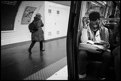 Twirl (GioMagPhotographer) Tags: paris france scarf hair subway curl leicam9 silverefex