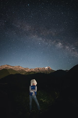 Selfie (konstantinkulak) Tags: sky mountains night way stars landscape nikon long exposure galaxy milky constellations astrophoto stargazing selfie starlight astrophotogrphy