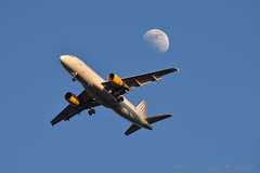 EC-HGZ (luca.fizzarotti) Tags: moon rome aviation airbus fiumicino fco vueling planespotter planespotters avgeek lirf