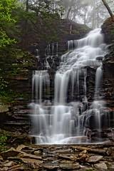Ganoga Falls (Alan Amati) Tags: falls glen landscape ricketts water waterfalls creek ganoga kitchen pennsylvania spring waterfall amati alanamati america usa us state park gangfalls nature natural hike trail cascade fall mist fog