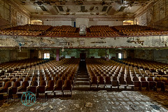 untitled (Dr_Fu_Manchu) Tags: abandoned theater theatre decay balcony stage urbandecay rows seats seating decaying urbex