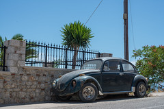 Beatle (Rune..) Tags: sun beauty car dream greece beatle kalymnos