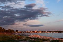 Sky above Fazana (senza senso) Tags: sunset clouds landscape croatia istria fazana darktable