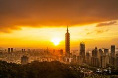 Taipei 101 Skyscraper (Jennifer ) Tags: longexposure skyscraper nikon long exposure magic taiwan 101 hour  taipei        101 taipei101skyscraper   nikond4s sunsettaipei101skyscraper