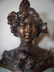 Smile (kimbar/Thanks for 2.5 million views!) Tags: artnouveau belleepoque girl head home sculpture