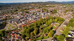 Skien (dronepilotene) Tags: norway no telemark skien brekkeparken skienkirke