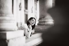 Daria. (ikhals) Tags: portrait blackandwhite italy milan monochrome brera vsco vscofilm