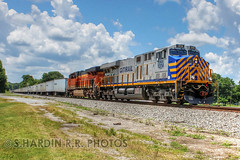 NS 251 (Steve H. Railfan Shots) Tags: railroad train ga georgia railway railfan bnsf triplecrown norfolksouthern rockmart crex roadrailer es44ac