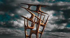 Apparition (Martin Snicer Photography) Tags: art clouds 50mm chairs artistic dramatic surreal sculpturebythesea 6d