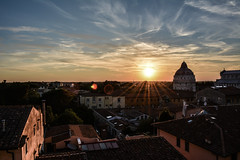 Pisa Sunset 11 (chriswalts) Tags: travel sunset italy streets tower night pisa leaning
