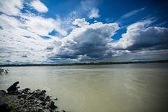 Day 2 in Alaska (Anchorage/ Denali) (Sophia Ludwig) Tags: blue summer sky plants sun lake cold green water alaska clouds river photography photo stream denali