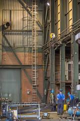 De fabriekshal is een voormalige scheepswerf (G. Warrink) Tags: architecture construction industrial steel welding engineering watchtower appelscha bosberg heuvelmanibis