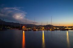 Lake Lucerne at night (christophjkonrad) Tags: luzern lucerne lakelucerne vierwaldstdtersee schweiz switzerland sailing boats longexposure summer leica leicam summilux lightroom