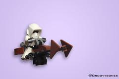 74-Z Speeder Bike (Groovybones) Tags: lego speeder bike star wars stormtrooper scout trooper minifig moc