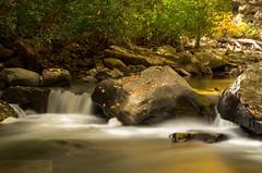 Along Meadow Run in Autumn IV (James.Baron) Tags: longexposure autumn fall nature water rural waterfall pentax ohiopyle